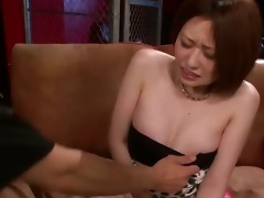 sexy ruri haruka bent over and screwed until she