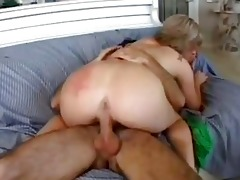 magnetic blond momma with large arse rides hard