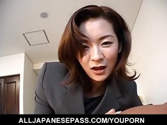 nice-looking japanese d like to fuck in an office