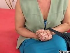 granny seduces juvenile chap to fuck