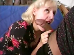 mature fat pianoteacher receives fucked by two