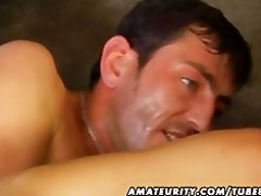 amateur wife anal and oral sex with facial spunk