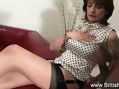 brit mother i tugs darksome fellow for cum