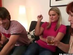 wife watching him fucking her mama