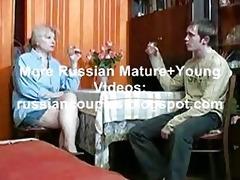 russian mama and chap having a gulp
