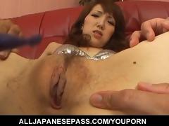japanese milf ai in a silver bikini smoked