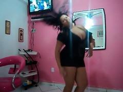 milf big beautiful woman brazilian dancing - very