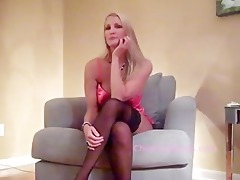 sexy blond in nylons