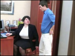 a dark brown shorthair-bbw-milf drilled by