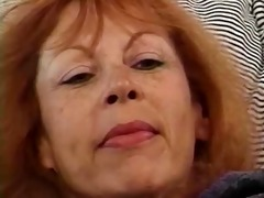 mature redhead trudy true masturbates previous to