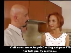 dilettante astounding redhead hawt wife talking