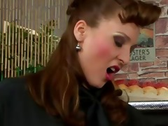 female-dominant acquires coarse on a rod