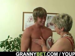 lonely granny acquires drilled in various