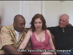 lustful wife copulates darksome for hubby