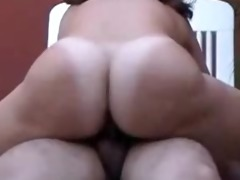 wife sitting in the sexy honey