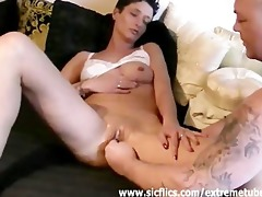 her cum-hole is destroyed by his gigantic fist