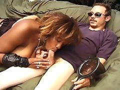 breasty dark momma milking biggest white jock