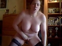 home made video. wife masturbate standing in