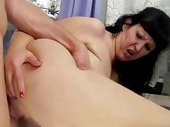 breasty plump grandma fucking with youthful lad