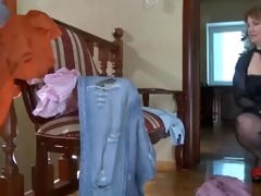 marvelous mommy in nylons &; chap