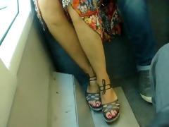 candid aged feet