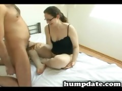 sexy wife gives hubby wonderful cook jerking