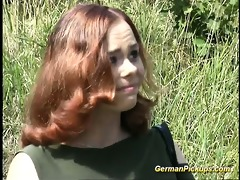 breasty german redhead picked up