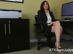 office worker alesia fun toys her fur pie