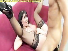 hot d like to fuck swallows dark cum