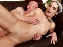 granny giving blow job and getting drilled hard