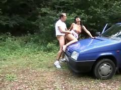 czech bitch sex in car