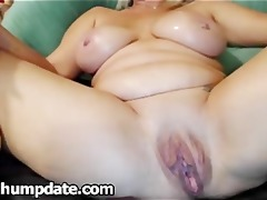 large breasted older plays with her large bawdy