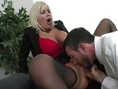 awesome golden-haired mother i with large tits