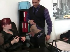 fortunate chaps group sex business woman