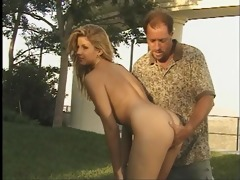 sexy doxy invites aged neighbor to fuck her