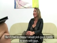 mature pornstar fucking on leather sofa