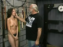 youthful tattooed bdsm victim gal receives her