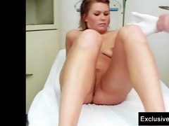 janelle youthful mama having gyno exam