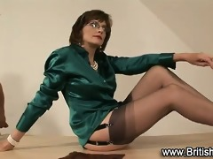 nylons brit hoe tugs darksome rod