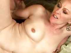 granny enjoys naughty sex with a guy