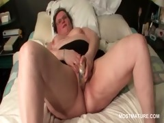 slutty horny aged enchanting herself with a sex