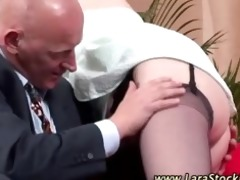 aged lady in nylons acquires sexy
