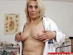 blond curvicious older nurse