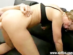aged wench fisted and drilled by two brutes