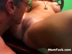 old chap doggy copulates a-hole aged hottie as
