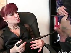 lucky men group-sex business lady