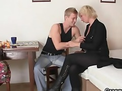 blond granny takes it is from behind