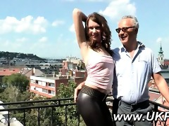 british chick enticed by an mature chap