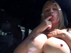 topless car driving