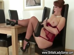 older stocking brit love tunnel toying